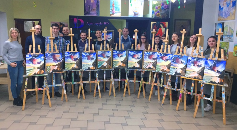 Forte Group painting event team building